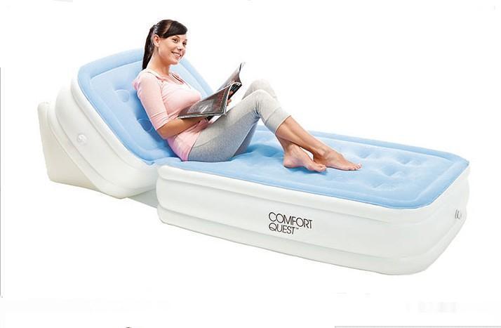 new adjustable back flocking mattress inflatable bed air cushion single folding bean bag living room sofa beds,foldable cushion
