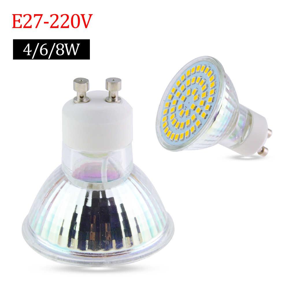 Led Lamp E27 / GU10 / MR16 Glass Body Bombillas Leds AC220V 230V Spot Light  8W 6W 4W Power 34 56 72 Led Bulbs Home Lighting
