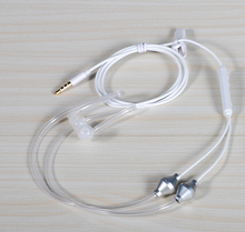 3.5mm In Ear Anti-radiation Earphone Air Tube Stereo Headset Monaural Headphones with Mic for Xiaomi iPhone Samsung MP3