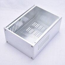 KYYSLB DIY 168mm * 100mm * 229mm 앰프 케이스 홈 오디오 모든 알루미늄 앰프 섀시 실버 1610 다목적 섀시 박스