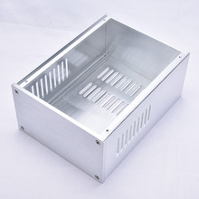 KYYSLB DIY 168mm*100mm*229mm Amplifier Case Home Audio All Aluminum Amplifier Chassis Silver 1610 Multi purpose Chassis Box