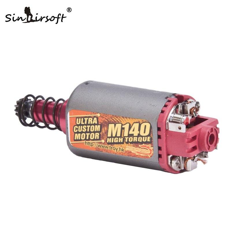 SINAIRSOFT M140 Alta Torsione Tipo di Motore Ad Alta Coppia Lungo Asse AEG Airsoft di Caccia Accessori per M4 M16 MP5 G3 P90 ecc BD1310