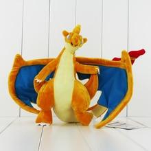 24cm High Quality Anime Charizard Stuffed Plush Toys Soft Mega Animal Dolls Toys Gifts For Children
