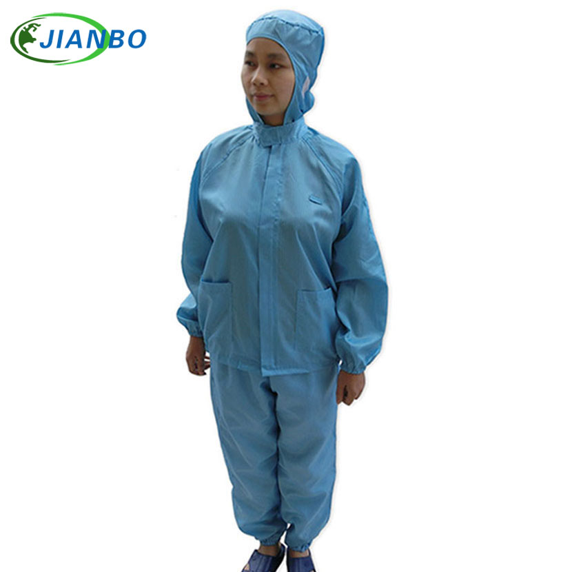Anti-electrostatic Protection ESD Cleanroom Workshop Zipper Cleanness Decontamination Hooded Suits Protective Painting Clothes anti electrostatic decontamination room protection system the medicine have no germ spray a paint connect the body take