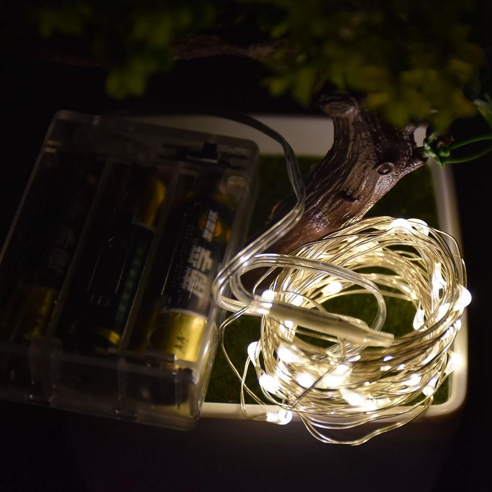 2M 3M 5M LED-es réz huzal húros tündérvilágítók AA elemmel - Üdülési világítás
