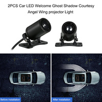 2PCS Car LED Welcome Ghost Shadow Light Courtesy Lights Angel Wing projector Lamps Auto Backlight Car Styling Welcome Light