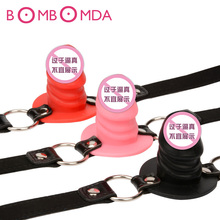 Adult Game Silicone Dildo Gag Oral Sex Penis Mouth Plug Penis Gag With Locking Buckles Leather Bondage Sex Product For CoupleO25