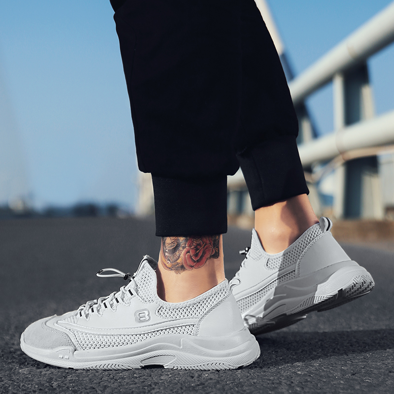 2018 Summer Mens Running Shoes Outdoor Jogging Training Shoes Sports Shoes Mens Breathable Height Increase Shoes
