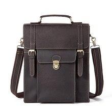 OZUKO Genuine Leather Men Bag 100% Real Crazy Horse Leather vintage Multi-function Men Backpacks High Grade Fashion Business Bag