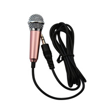 Aluminium Alloy Mini 3.5mm Handheld Karaoke Cellphone Microphone