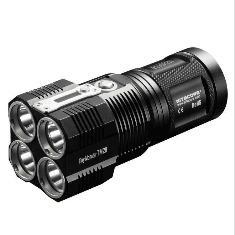 Оптовая продажа Бесплатная доставка NITECORE TM28 6000LMs 4x CREE XHP35 HI светодиодный Перезаряжаемые высокое светильник вспышки светильник Охота Открытый Поиск