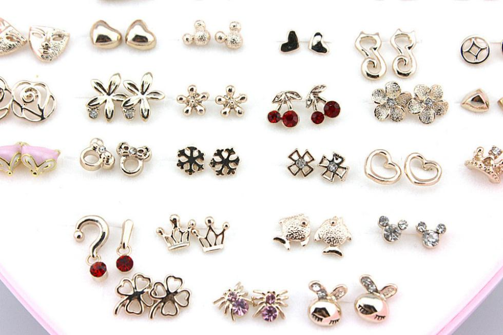 36pairs/lot Mixed Designs 14K Gold Filled Rose Gold ...