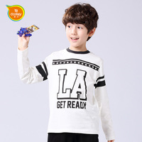 DOOLLEY Boy Casual T-shirt Children Long Sleeve Tees 2017 New Arrival Kids Autumn Spring Clothing Size 140-160 cm