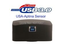 Buy online Free shipping , HD High resolution 14 Mega  USB3.0 digital microscope camera with USA Aptina CMOS sensor