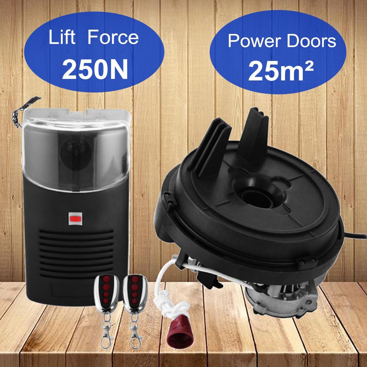 80 W 433 MHZ 250N ouvre-porte de rouleau de Garage moteur porte roulante automatique télécommande porte coulissante Machine ouvre-porte électrique