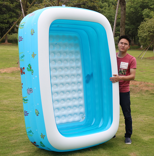 US $110.14 5% OFF|Above ground swimming pools outdoor Pool Family  Thickening Inflatable Pool Child Adult Water Ocean Pools for sale 2m  length-in Pool ...