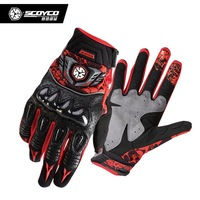 SCOYCO MX49 Female And Men S Motorcycle Gloves Carbon Protective Motorbike Moto Glove Size M L