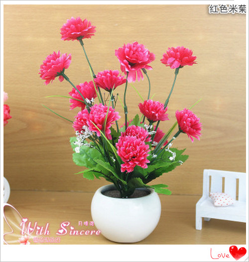 aa04 small potted flowers fresh rice bud flower artificial flowers