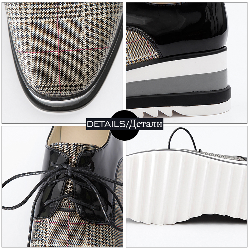 Sneakers Plate White plaid Coins Wetkiss Appartements Lacet blanc forme Dropshipping Verni plaid Dames Chaussures Noir Femmes Casual Black ExqaAqnS1