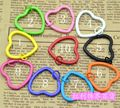 FREE SHIPPING BY DHL 200pcs/lot 2015 New Painted Heart Shaped Keychains Metal Enamelled Keyrings for Lovers