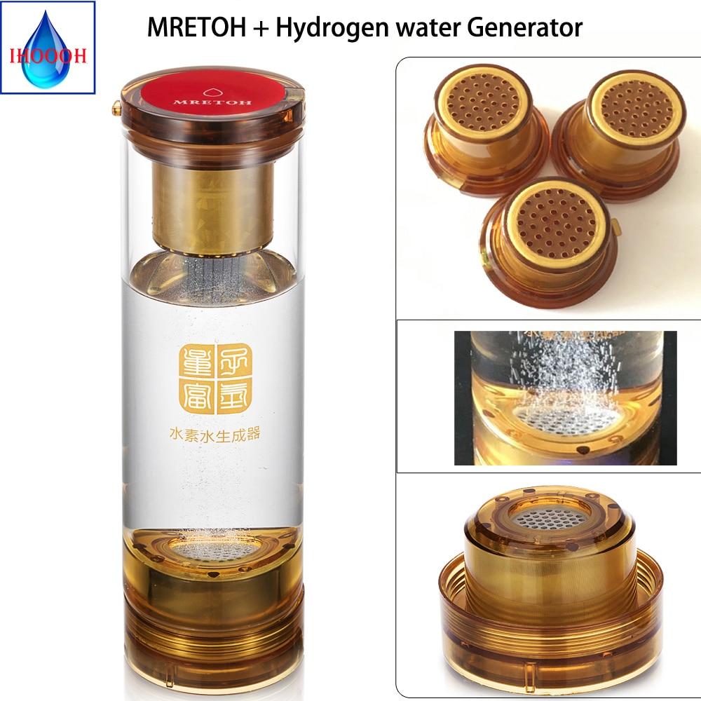 MRET OH et générateur d'hydrogène Anti-âge sain générateur d'ioniseur riche en hydrogène électrolytique deux-en-un avec cavité d'eau acide