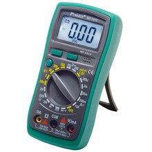 Proskit MT-1210 3 1/2 компактный цифровой мультиметры ручной диапазон колпачок Ом транзистор диодный тестер данных испытания батареи