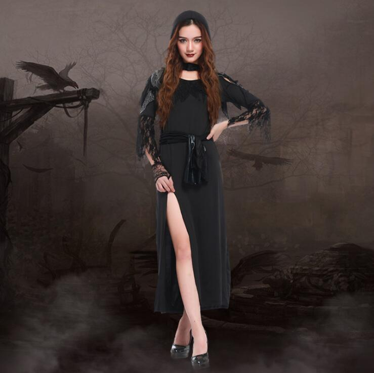 Women Witch Costume Deluxe Adult Womens Magic Moment Costume Witch Halloween Fancy Dress Wholesale