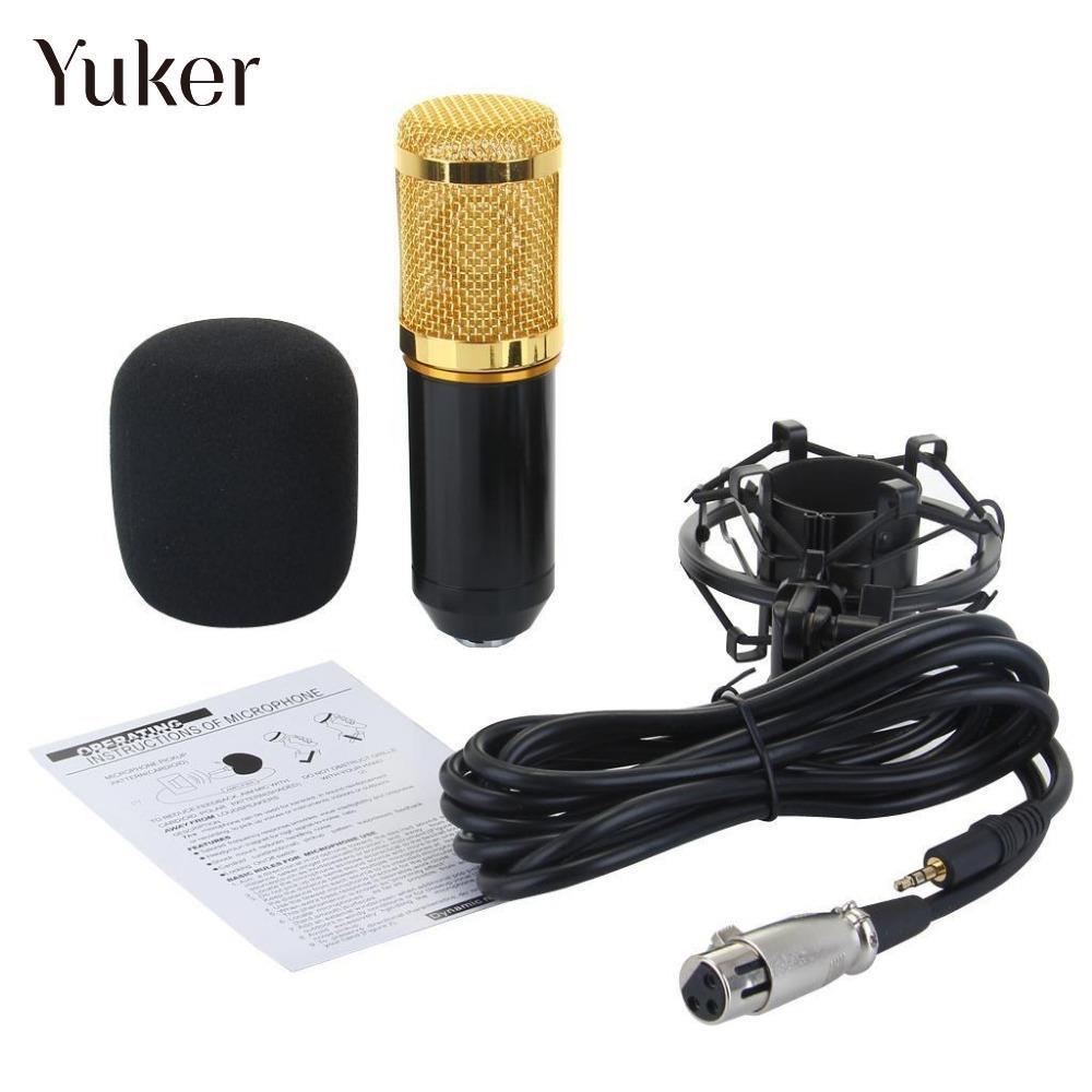 Yuker BM800 Round Head Microphone Music Dynamic +Shock Mount DJ Professional KTV Pro Audio Studio Recording Mic Condenser BM-800 стоимость
