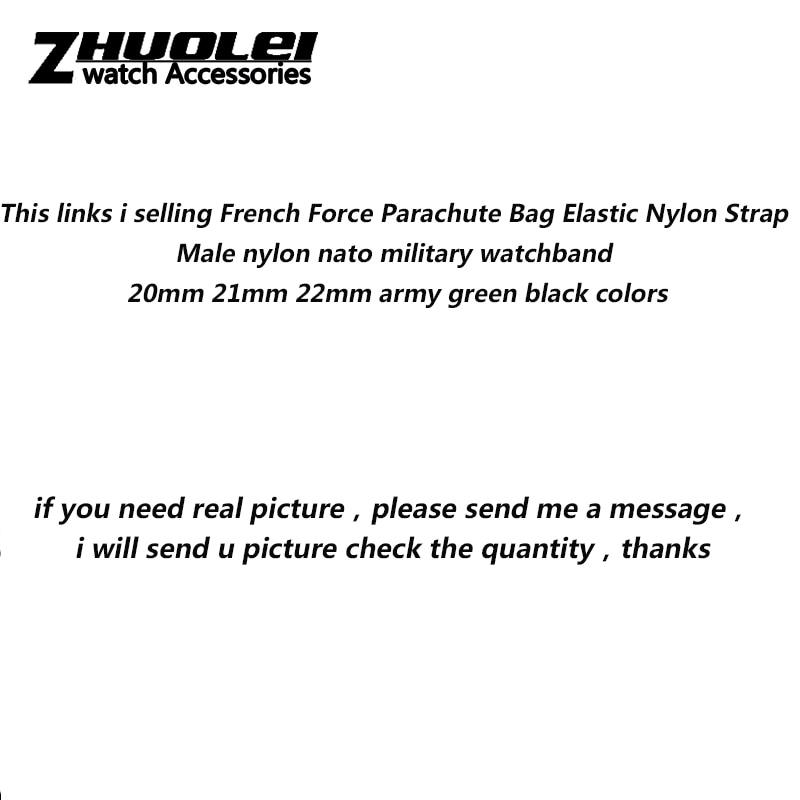 Nylon elástico Correa hombre nylon militar de la OTAN banda de reloj 20mm 21mm 22mm verde del ejército negro colores
