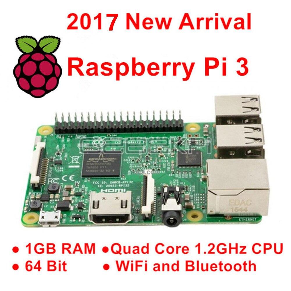 Raspberry Pi 3 Model B 1GB RAM Quad Core 1,2 GHz 64bit CPU WiFi & Bluetooth