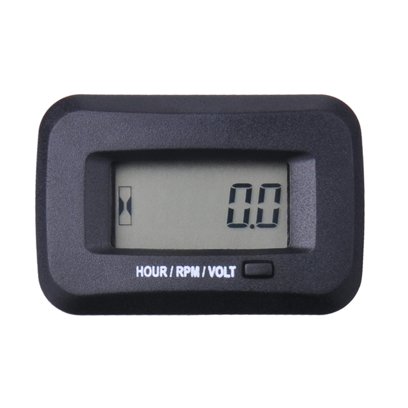 Digital RPM Inductive Tachometer Hour Meter for ATV Chainsaw compressor cutter marine tractor excavator RL-HM038M цена 2017
