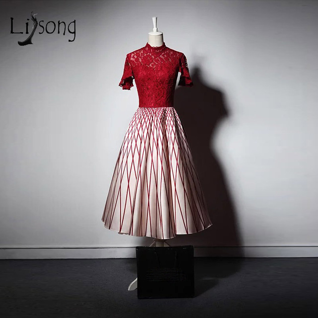 Vintage Ankle Length Evening Dresses