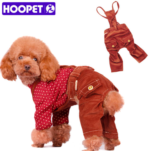 9032216e929 Online Shop HOOPET Pet Dog Pants Overalls Dog Suspender Trousers Corduroy  Jumpsuit Clothes Casual Wear French Bulldog Yorkshire Chihuahua