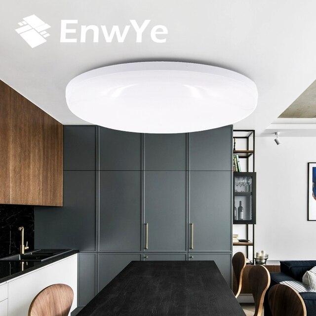 EnwYe 9 w 13 w 18 w 24 w 36 w LED עגול לוח אור צמודי נוריות Downlight למטה 85-265 v lampada led מנורה