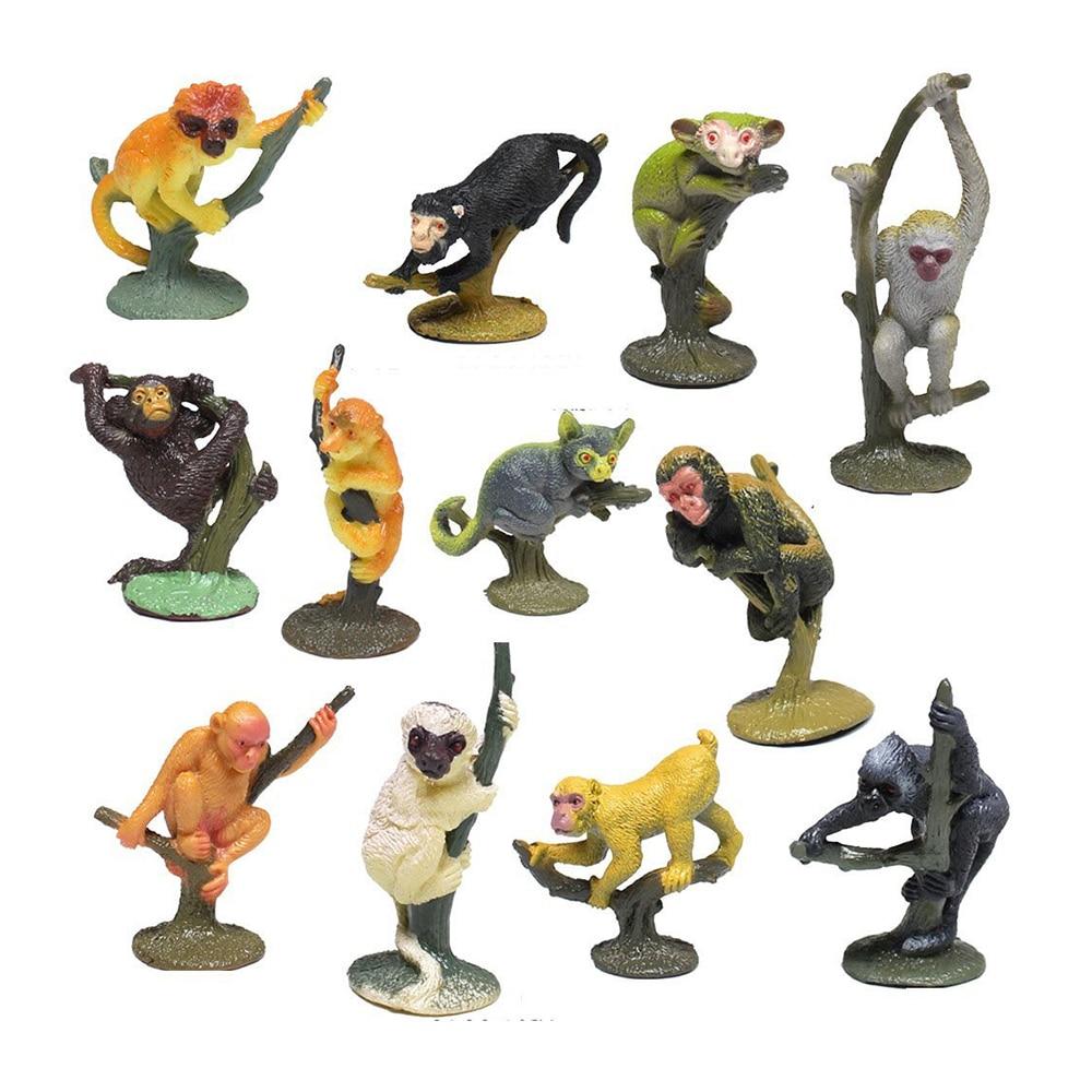 Animal Toys For Boys : Pcs set emulational realistic small animals monkey
