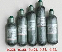 High Quality SCBA Cylinder Carbon Fiber Cylinder Small Composite Bottle PCP Cylinder 0 5L 500CC Free