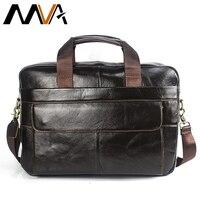 MVA Laptop Bag Men Briefcase Business Travel Briefcase Handbag Messenger Shoulder Laptop Bags Genuine Leather Bag
