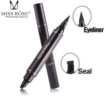 MISS ROSE Makeup Liquid Rose Eyeliner Pencil maquiagem Quick Dry Waterproof wing Eye Liner With Miss Stamp