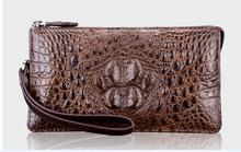 100% genuine crocodile leather wallets and purse alligator skin wallets men clutch alligator skin