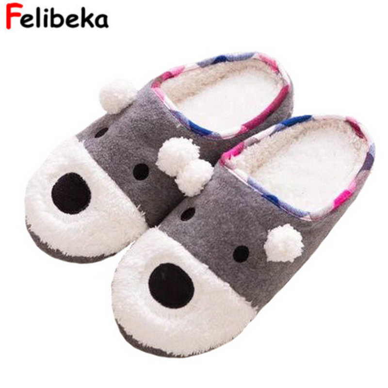 Spring autumn new style cartoon dog slippers for women's at home indoor warm shoes for men's lovers shoes шкафчик sign низкий боковой венге 36х59см ifo 132136100