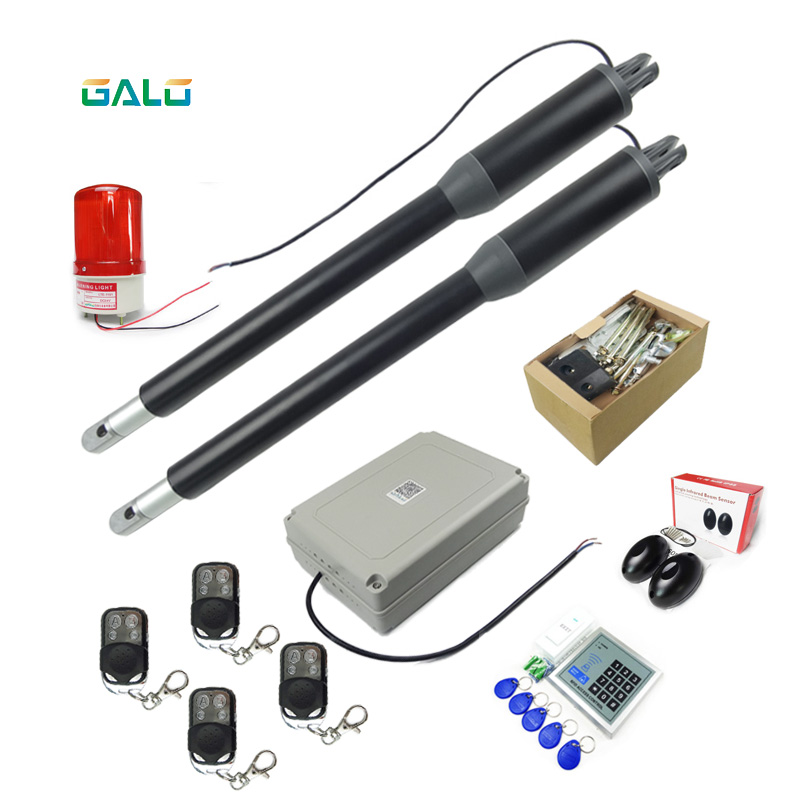 galo Automatic dual arms electric swing door gate Opener Operator Motor actuator closer swing gate opener for access control