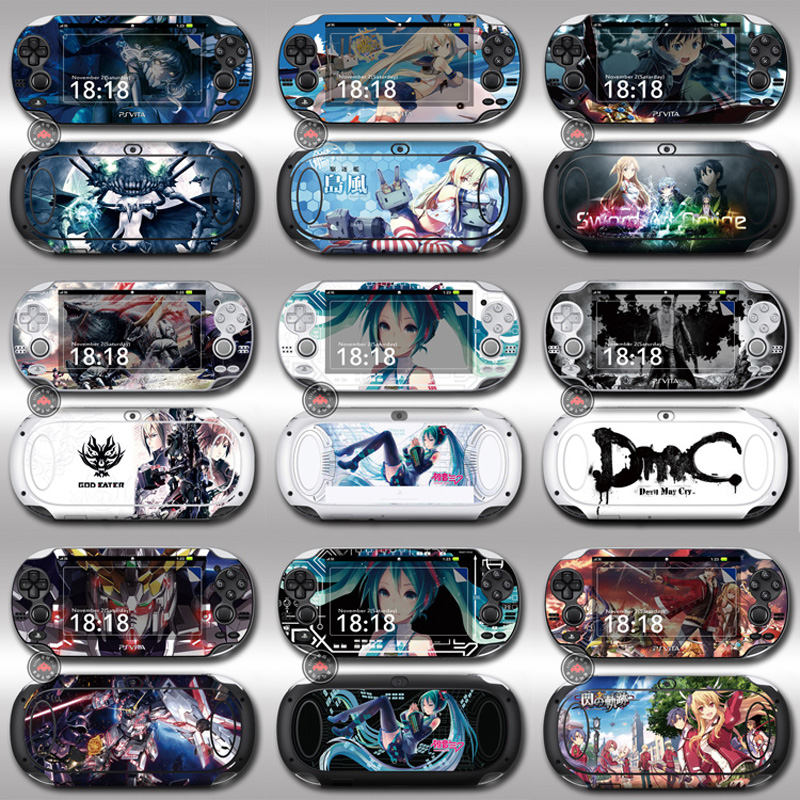 Front&Back Protective PSV1000 Skin Sticker Cover For Sony PS vita 1000 PSV 1000 Decals Handheld Game Console Touch Wrap Posters цена и фото