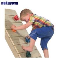 5pcs Set Outdoor Indoor Playground Plastic Rock Climbing Holds Wall Kit Rock Stones Kids Sports Backyard