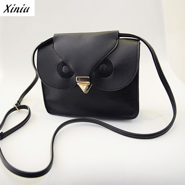Xiniu Cute Owl Leather Handbag