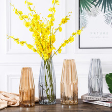 Creative Simplicity Style Glass Vase Tabletop Gift Home Decoration TV Cabinet Porch Ornaments Modern Decorative