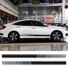 2 шт., автомобильные наклейки в полоску для Audi BMW Ford Volkswagen Toyota Renault, автомобильные виниловые наклейки, универсальные автомобильные аксессуары для тюнинга