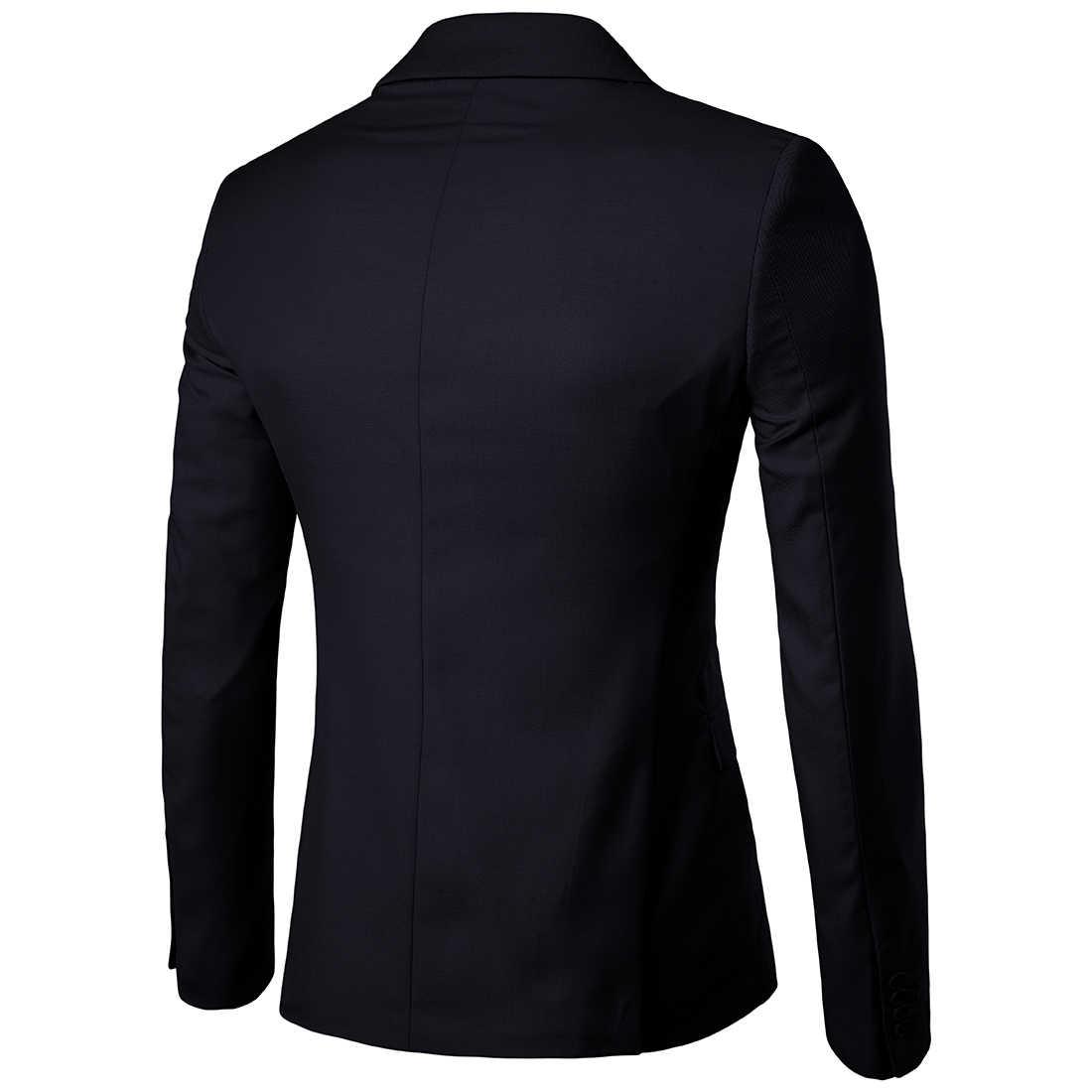 2019 Мужские приталенные модные блейзеры в Корейском стиле, мужской пиджак, повседневное пальто больших размеров, свадебное платье, черный морской синий винно-красный костюм, пальто для мужчин