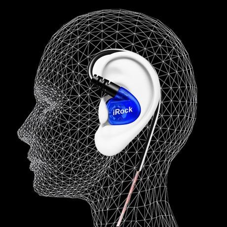 YMDX irock V6 Kopfhörer Universal Fit Earhook Ohrhörer mit Mikrofon Super Deep Bass-Kopfhörer für den Sportlauf