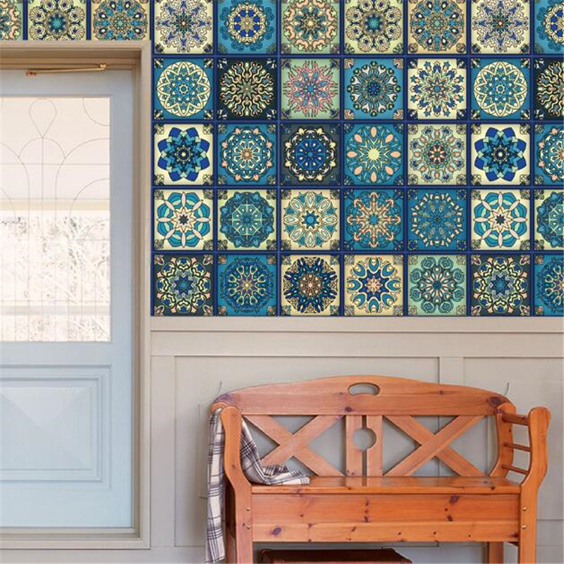 The decoration of the wall of the baroque style ceramic tile wall is decorated in the living room bedroom kitchen adornment past