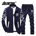 Jolintsai Brand Clothing Hoodies Set Sweatshirt Men 2017 Autumn Tracksuit Sets Sporting Suit Sweatshirts Man Printing Sweat Set